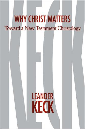 Why Christ Matters: Toward a New Testament Christology (Hardback)