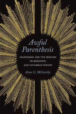 Awful Parenthesis: Suspension and the Sublime in Romantic and Victorian Poetry (Hardback)