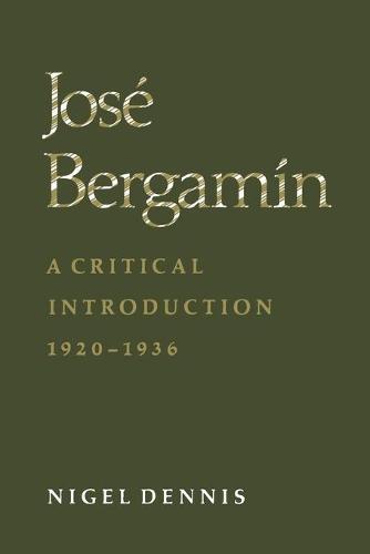 Jos Bergam n: A Critical Introduction, 1920-1936 (Paperback)