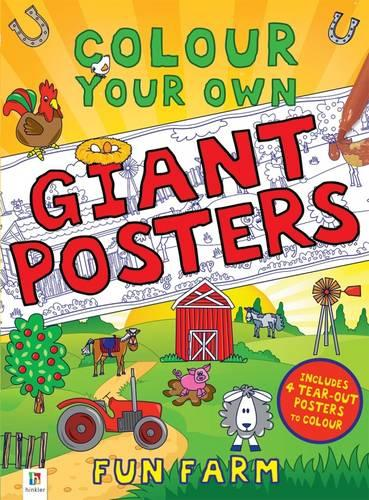 Colour your own Giant Posters: Fun Farm (Book)