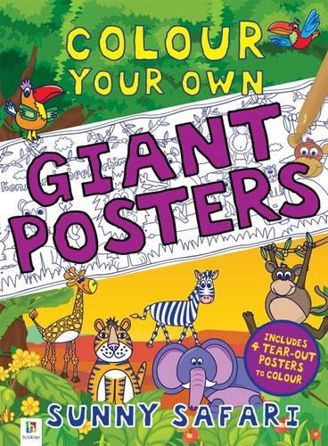 Colour your own Giant Posters: Sunny Safari (Book)