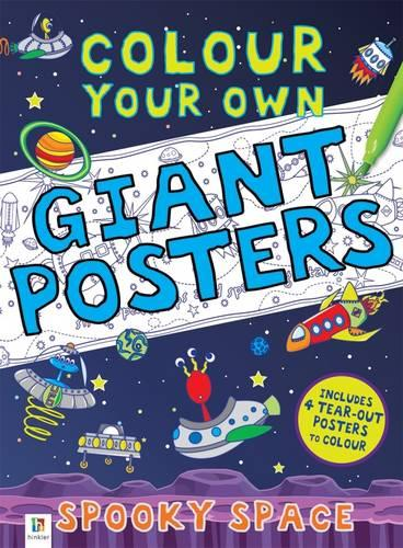 Colour your own Giant Posters: Spooky Space (Book)