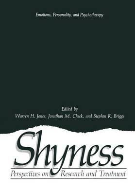 Shyness: Perspectives on Research and Treatment - Emotions, Personality, and Psychotherapy (Paperback)