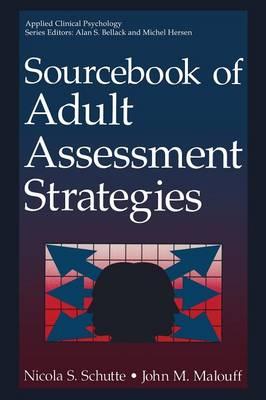 Sourcebook of Adult Assessment Strategies - NATO Science Series B (Paperback)