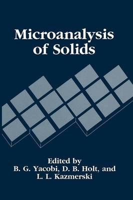 Microanalysis of Solids (Paperback)