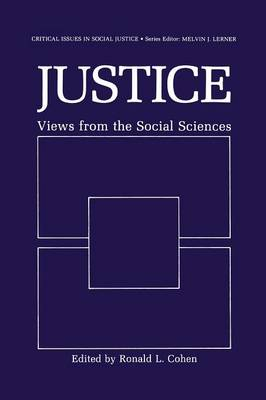 Justice: Views from the Social Sciences - Critical Issues in Social Justice (Paperback)
