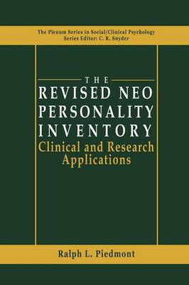 The Revised NEO Personality Inventory: Clinical and Research Applications - The Springer Series in Social Clinical Psychology (Paperback)