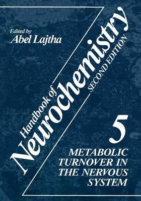 Handbook of Neurochemistry: Handbook of Neurochemistry Metabolic Turnover in the Nervous System Volume 5 (Paperback)
