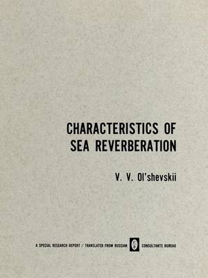 Characteristics of Sea Reverberation (Paperback)