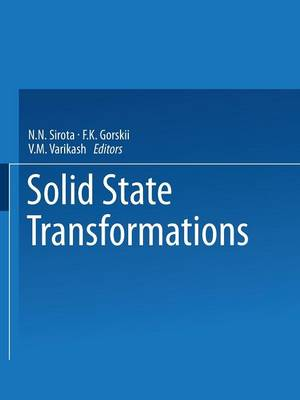 Solid State Transformations (Paperback)