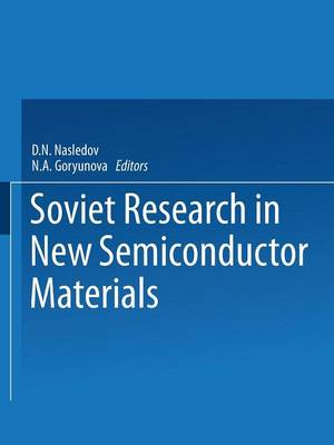 Soviet Research in NEW SEMICONDUCTOR MATERIALS (Paperback)