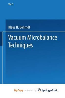 Vacuum Microbalance Techniques: Volume 5 (Paperback)