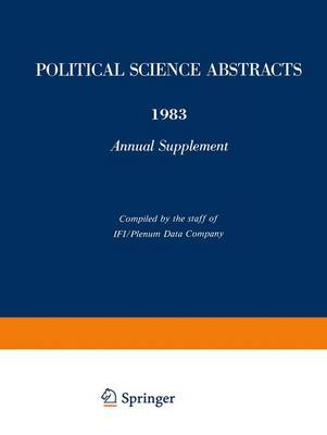 Political Science Abstracts: 1983 Annual Supplement - Political Science Abstracts (Paperback)