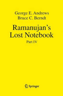 Ramanujan's Lost Notebook: Part IV (Paperback)