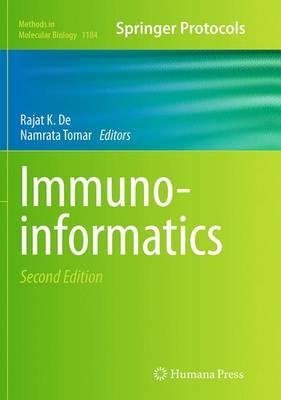 Immunoinformatics - Methods in Molecular Biology 1184 (Paperback)