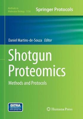 Shotgun Proteomics: Methods and Protocols - Methods in Molecular Biology 1156 (Paperback)