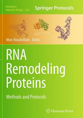 RNA Remodeling Proteins: Methods and Protocols - Methods in Molecular Biology 1259 (Paperback)