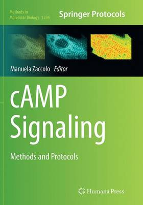 cAMP Signaling: Methods and Protocols - Methods in Molecular Biology 1294 (Paperback)