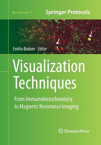 Visualization Techniques: From Immunohistochemistry to Magnetic Resonance Imaging - Neuromethods 70 (Paperback)