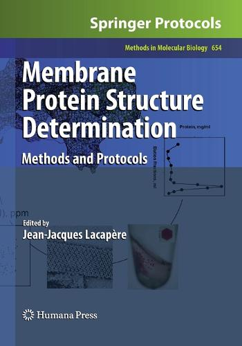 Membrane Protein Structure Determination: Methods and Protocols - Methods in Molecular Biology 654 (Paperback)