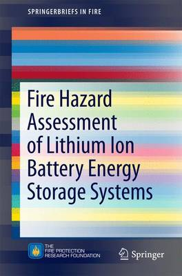 Fire Hazard Assessment of Lithium Ion Battery Energy Storage Systems - SpringerBriefs in Fire (Paperback)