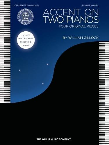 Accent on Two Pianos: Four Original Pieces: Intermediate to Advanced: 2 Pianos, 4 Hands (Paperback)