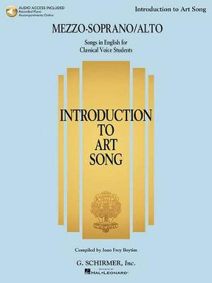 Introduction To Art Song For Mezzo-Soprano/Alto (Book/Online Audio) (Paperback)