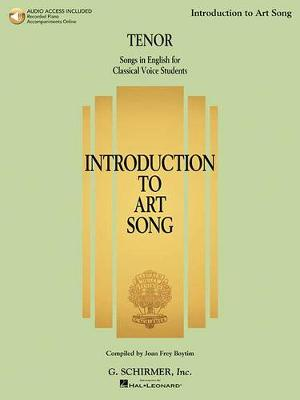 Introduction To Art Song For Tenor (Book/Online Audio) (Paperback)