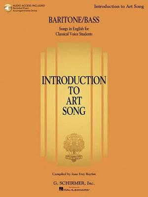 Introduction To Art Song For Baritone/Bass (Book/Online Audio) (Paperback)
