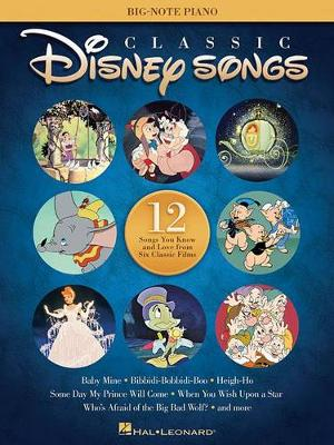 Classic Disney Songs - Big Note Piano Songbook (Paperback)