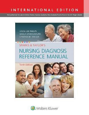 Sparks & Taylor's Nursing Diagnosis Reference Manual (Paperback)