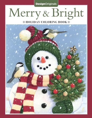Merry & Bright Holiday Coloring Book (Paperback)