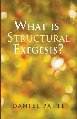 What Is Structural Exegesis? (Paperback)