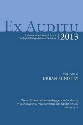 Ex Auditu - Volume 29 (Hardback)