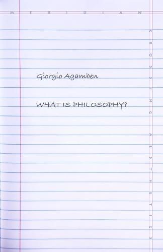 What Is Philosophy? - Meridian: Crossing Aesthetics (Hardback)