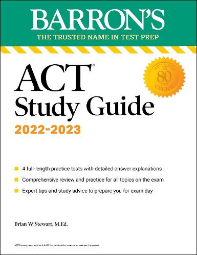 ACT Study Guide: with 4 practice tests - Barron's Test Prep (Paperback)