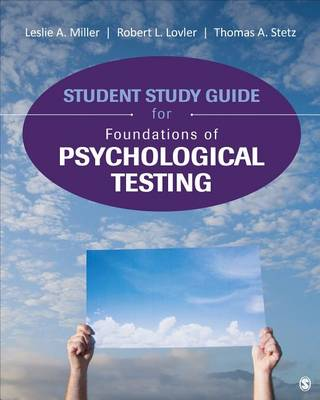 Student Study Guide for Foundations of Psychological Testing (Paperback)