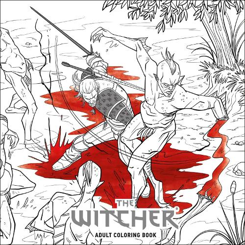 The Witcher Adult Coloring Book Paperback
