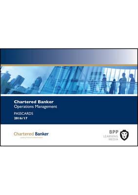 Chartered Banker Operations Management: Passcards (Spiral bound)
