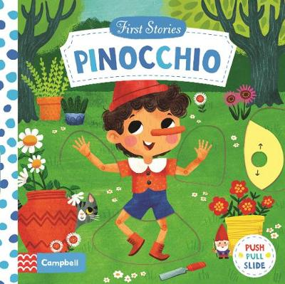 Cover of the book, Pinocchio.