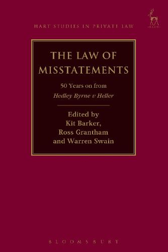 The Law of Misstatements: 50 Years on from Hedley Byrne v Heller - Hart Studies in Private Law (Paperback)