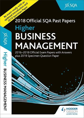 Higher Business Management 2018-19 SQA Specimen and Past Papers with Answers (Paperback)