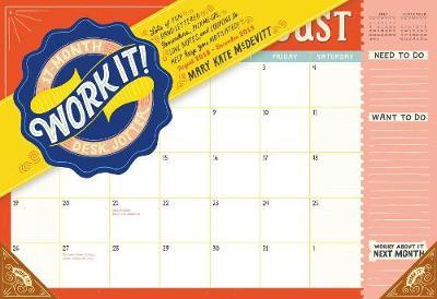 2019 Work it! 17 Month Desk Jotter Wall Calendar (Calendar)