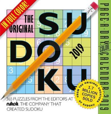2019 the Original Sudoku Colour Page-A-Day Calendar (Calendar)