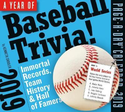 2019 a Year of Baseball Trivia! Page-A-Day Calendar (Calendar)