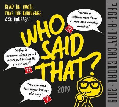 2019 Who Said That? Page-A-Day Calendar (Calendar)