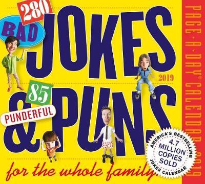 2019 294 Bad Jokes & 71 Punderful Puns Page-A-Day Calendar (Calendar)