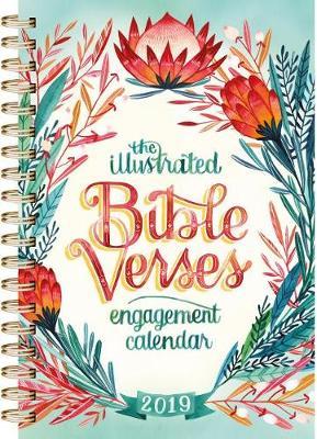 2019 the Illustrated Bible Verses Engagement Calendar Wall Calendar (Calendar)
