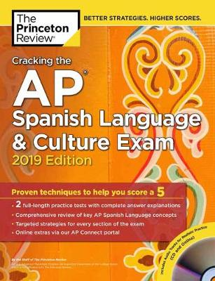 Cracking the AP Spanish Language and Culture Exam with Audio CD: 2019 Edition - College Test Prep (Paperback)