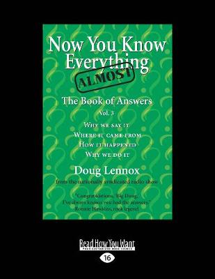 Now You Know Almost Everything: The Book of Answers, Vol. 3 (Paperback)